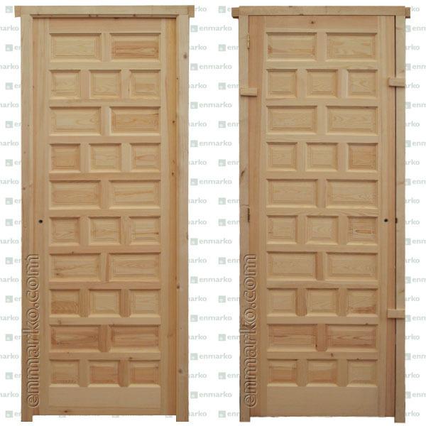 Puerta entrada castellana tienda online de enmarko for Puerta castellana pino